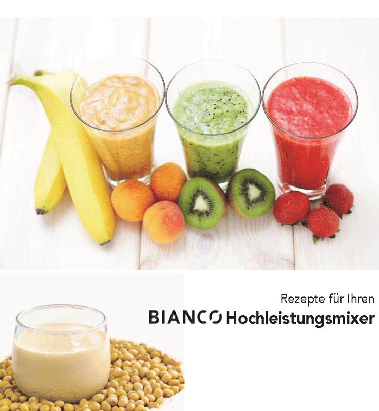 Rezeptbuch für die Hochleistungsmixer von Bianco