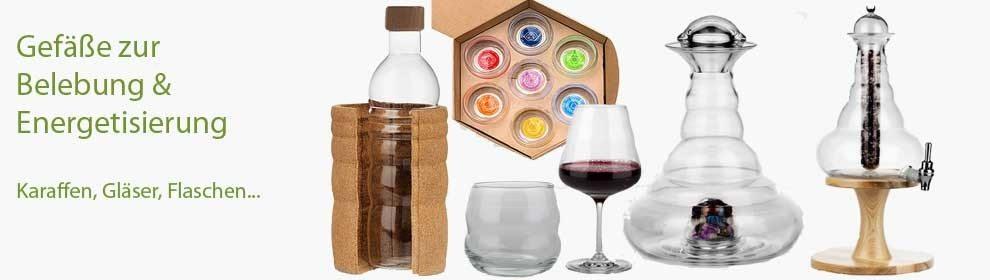 Gefäße, Karaffen, Gläser, Flaschen