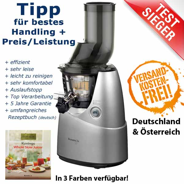 Avocado In Slow Juicer : Kuvings Whole Slow Juicer B6000 GrunePerlen