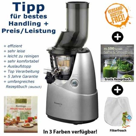 Kuvings Whole Slow Juicer silber