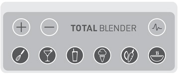 Total-Blender Bedienfeld