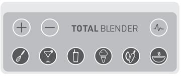 Total-Blender Bedienfeld