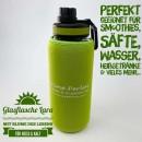 Glasflasche-Lara-Schwarz-grün-grün