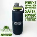 Glasflasche-Lara-Schwarz-grün-schwarz