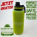 Gratis-Glasflasche-Lara-Schwarz-grün-grün