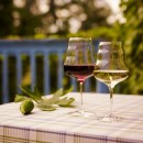 Weinglaeser rot & weiss - mundgeblasen