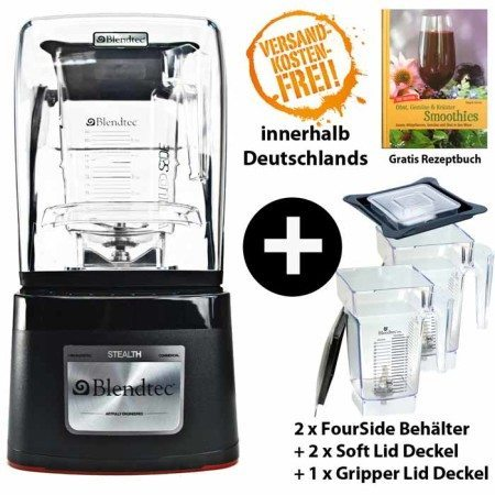 Blendtec Stealth inkl. 2 x Fourside-Jar