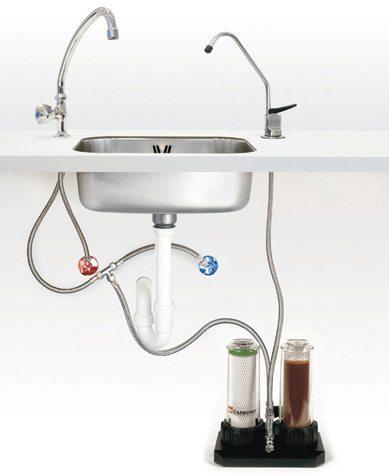 Carbonit Duo-HP mit 2tem Wasserhahn