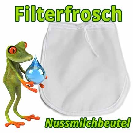Filterfrosch Nussmilchbeutel