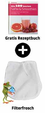 Rezeptbuch + Nussmilchbeutel
