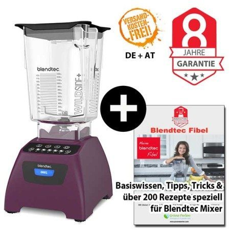 Blendtec Classic 575 mit Wildside Jar + Blendtecfibel orchidee