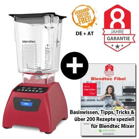 Blendtec Classic 575 mit Wildside Jar + Blendtecfibel rot