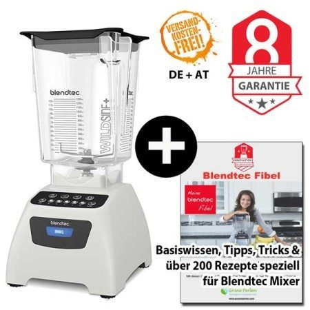 Blendtec Classic 575 mit Wildside Jar + Blendtecfibel weiss