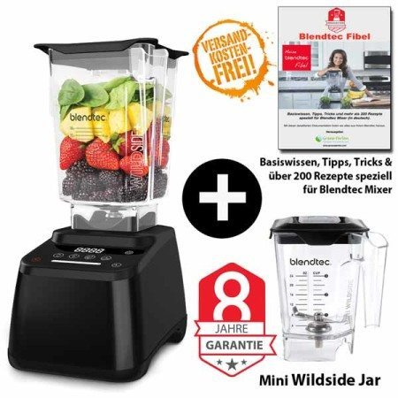 Blendtec-Designer-625+Wildside+Mini-wildside+Blendtec-Fibel-schwarz