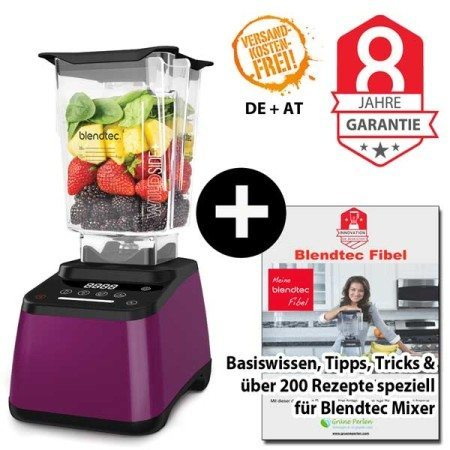Blendtec Designer 625 mit Wildside + Blendtecfibel orchidee