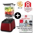 Blendtec Designer 625 mit Wildside + Blendtecfibel weinrot