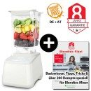 Blendtec Designer 625 mit Wildside + Blendtecfibel weiss