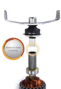 Blendtec Kupplung: Stahl auf Stahl beim Blendtec Blender