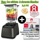 Blendtec Designer 725 mit Wildside Jar + Blendtecfibel gunmetall