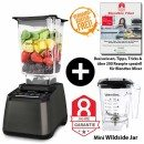 Blendtec-Designer-725-mit-Wildside+Mini-Wildside+Blendtec-Fibel-gunmetall