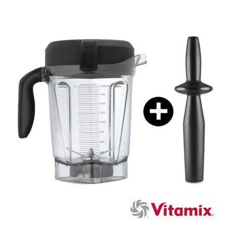 Vitamix-2L-Behälter-breit mit Stampfer