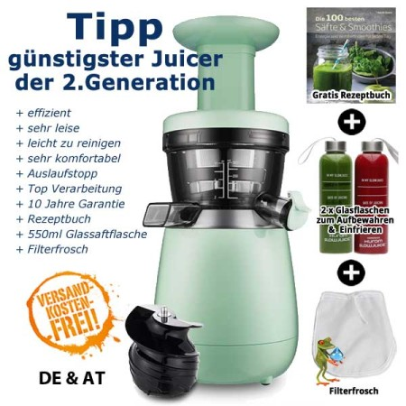 Hurom-HP-Slow-Juicer 2. Generation-mint