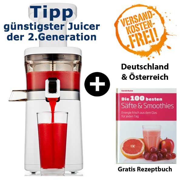 Hurom Slow Juicer 2nd Generation Test : Hurom Slow Juicer 2nd Generation HQ-Serie GrunePerlen