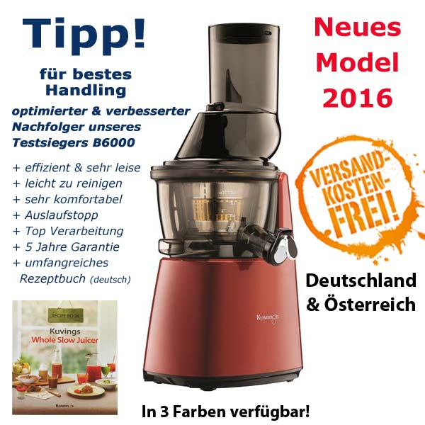 Slow Juicer Bedst I Test 2016 : Kuvings Whole Slow Juicer C9500 2.Generation!