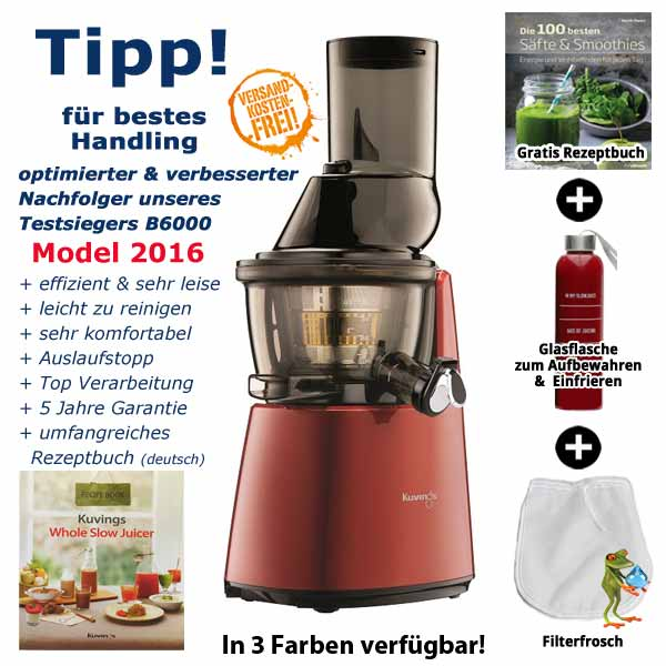 Slow Juicer Im Vergleich : Kuvings Whole Slow Juicer C9500 2.Generation!