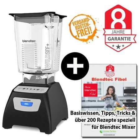 Blendtec Classic 570 Wildside + Blendtec-Fibel schwarz
