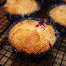 Cranberry-Kleie-Muffins