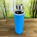 Borosilikatglasflasche-mit-Neoprenhuelle-blau
