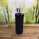 Borosilikatglasflasche-mit-Neoprenhuelle-schwarz