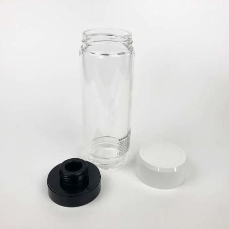 Glaszylinder-mit-Druckdeckel+Apapter für Aqualiving