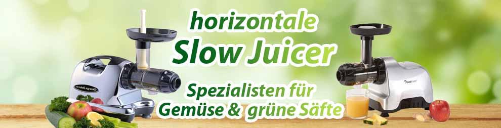horizontale Einzelschnecken Entsafter Slow Juicer