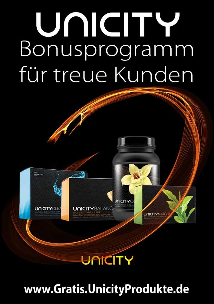 Unicity-Gratisprodukte für treue Kunden