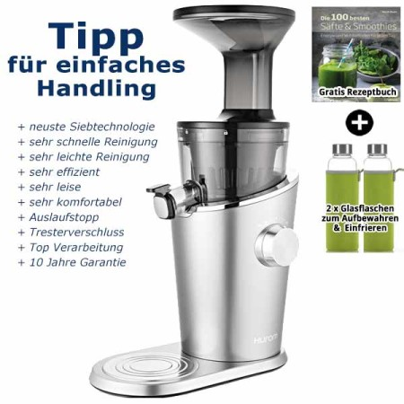 Hurom-H-100-Easy-Serie-SlowJuicer-silber