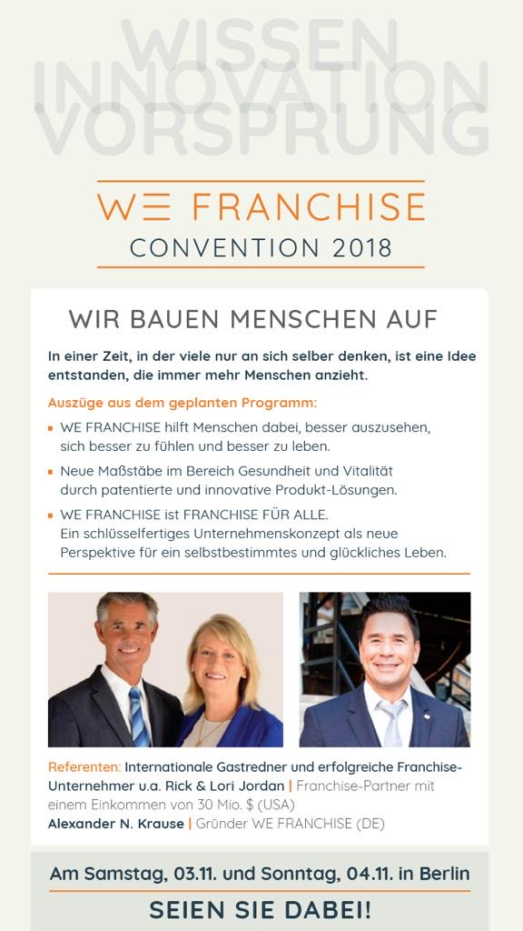 WE-Convention Programm