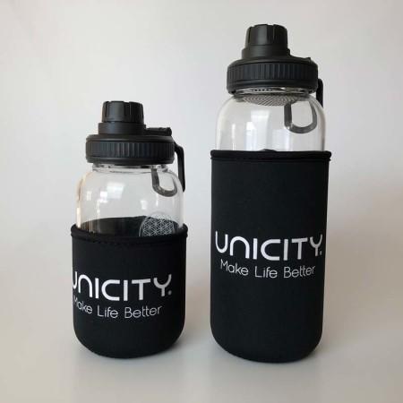 Glasflasche-Lara mit Unicity Sleeve