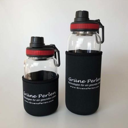 Glasflasche-Lara-rot