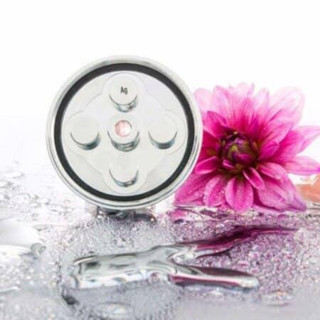Aquadea-LifePower-Kristallwirbeldusche-Inspration-Silber