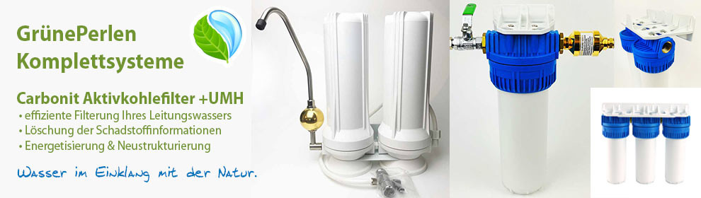 GrünePerlen Komplettsysteme zur Trinkwasseraufbereitung