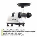 Omega Juicers MM900 Vorteile